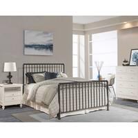 Hillsdale Brandi Navy Metal Queen Bed Set (Bedframe Not Included)