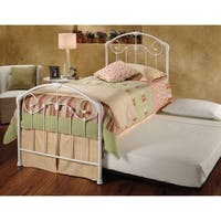 Hillsdale Maddie White Metal Twin Bed Set with Rails and Trundle