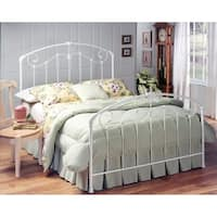 Hillsdale Maddie White Metal King Bed Set (Rails Not Included)