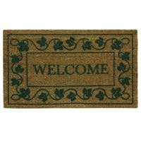 Coir Flocked Ivy Vine with Welcome printed doormat by Bacova
