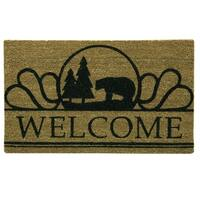 Coir Natural Boone printed doormat by Bacova