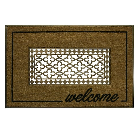 Coir Framed Welcome Grate doormat by Bacova - 23x36