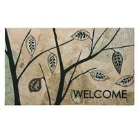 Floor Dimensions Birch Leaves Polytop doormat by Bacova