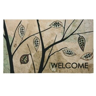 Floor Dimensions Birch Leaves Polytop doormat by Bacova - 18x30