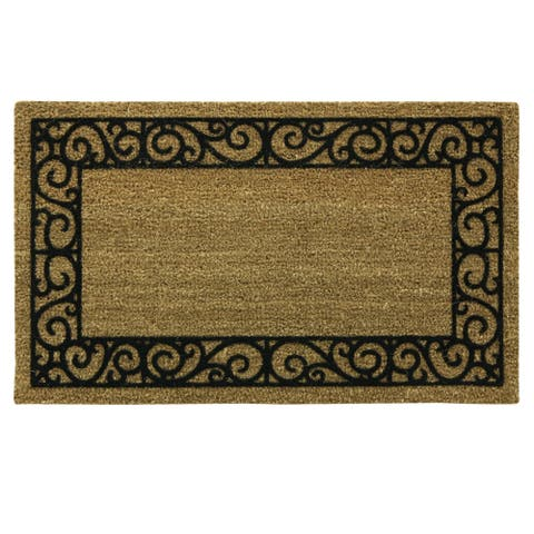 Coir Flocked Natural French Quarters doormat by Bacova - 20x30