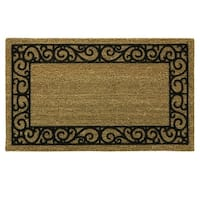 Coir Flocked Natural French Quarters doormat by Bacova