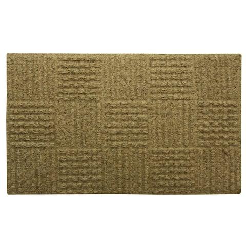 Koko natural braided doormat by Bacova - 18x29