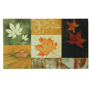 Floor Dimensions Harvest Leaves Polytop doormat by Bacova - 18x30