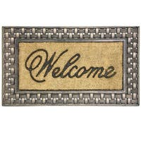 Coir Framed Basketweave Welcome doormat by Bacova - 18x30