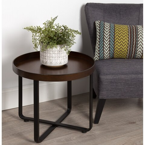 Kate and Laurel Zabel Round Metal End Table