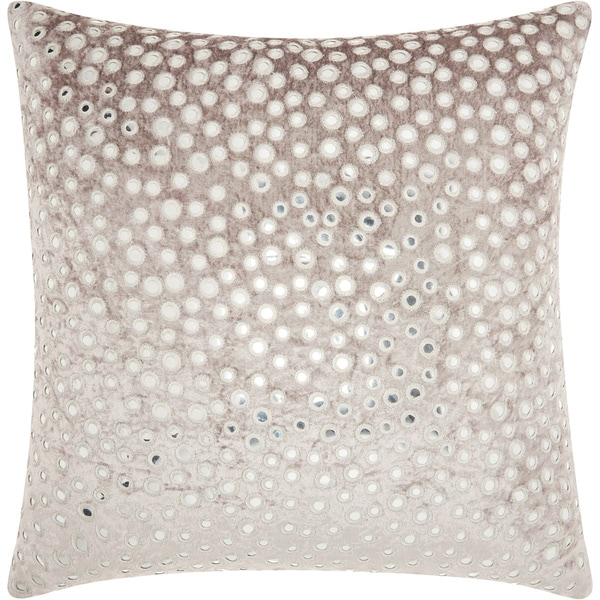 Mina Victory Life Styles Velvet Mirrors Throw Pillow by Nourison (20-Inch X 20-Inch)