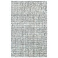 LR Home Criss Cross Navy / Ivory Indoor Area Rug - 9' x 12'