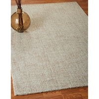 LR Home Criss Cross Taupe / Teal Indoor Area Rug - 9' x 12'