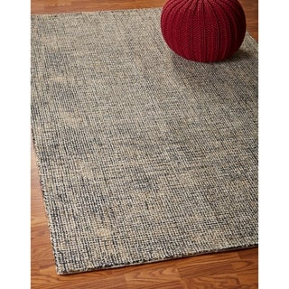 LR Home Criss Cross Charcoal / Gold Indoor Area Rug (9' x 12') - 9' x 12'