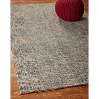 LR Home Criss Cross Charcoal / Gold Indoor Area Rug - 9' x 12'