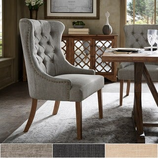 Link to Kimpton Upholstered Button Tufted Wingback Chair by iNSPIRE Q Artisan Similar Items in Dining Room & Bar Furniture