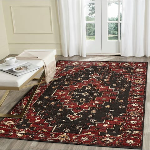 "LR Home Infinity Black Geometric Medallion Area Rug ( 7'9"" x 9'5"" ) - 7'9 x 9'6"