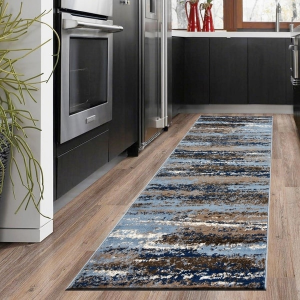 Shop Lr Home Infinity Scenic Skies Light Blue Olefin Rug