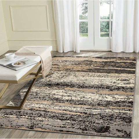 """LR Home Infinity Neutral Abstract Indoor Area Rug ( 7'9"""" x 9'5"""" ) - 7'9 x 9'6"""
