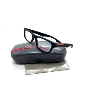 Prada Sport Black Eyeglasses VPS 07C DG0 1O1 53 mm Rubber Demo lenses