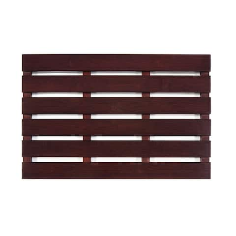 "Jani Bamboo Bath and Sauna Mat with Cherry Finish - 1'4"" x 2'"