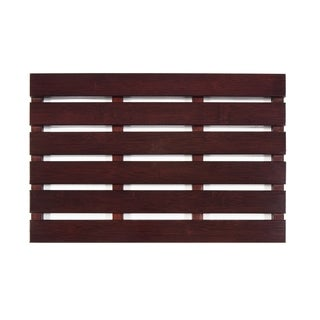 Jani Bamboo Bath and Sauna Mat with Cherry Finish