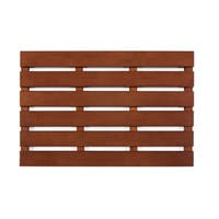 Jani Bamboo Bath and Sauna Mat with Walnut Finish