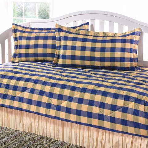 Checkers blue gold Daybed Set