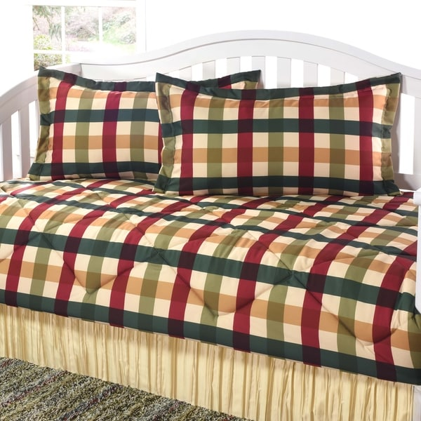 Shop Checkers Red Gold Daybed Set Free Shipping Today