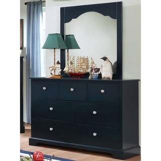 Furniture of America Danson Transitional 2-piece Youth Dresser and Mirror Set