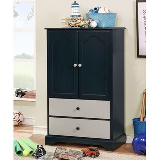 Furniture of America Danson Transitional 2-drawer Wooden Storage Armoire