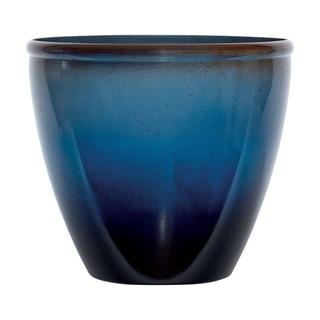 Suncast  Modern  Blue/Brown  Resin  Modern  Planter  14 in. H x 16 in. W x 16 in. L