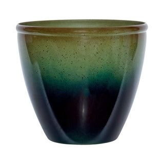 Suncast Modern Green/Blue Resin Modern Planter 14 in. H x 16 in. W x 16 in. L
