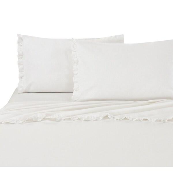Shop Classical Linen Cotton Collection Ruffle Lace Sheet