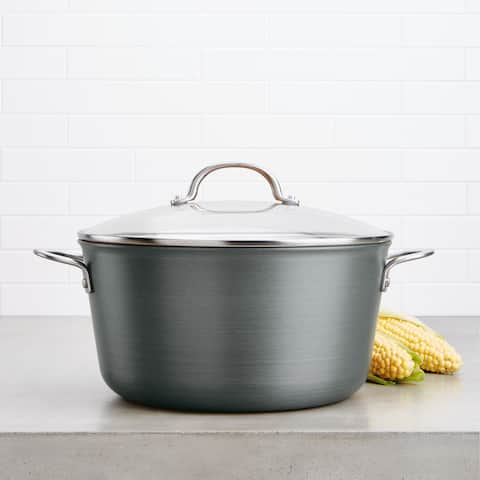 Ayesha Curry Home Collection Hard Anodized Aluminum Stockpot, 10-Quart