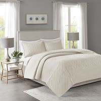 Madison Park Remy Cream Quilted Coverlet Set