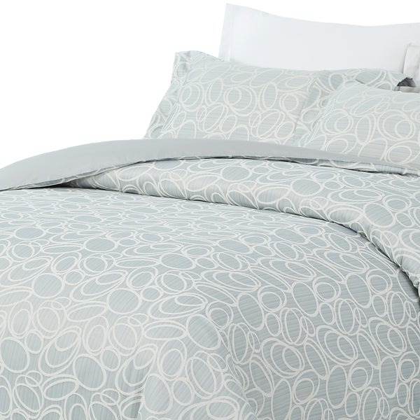 Natural Comfort Luxurious Jaquard 300 Thread Count Cotton Duvet Cover Mini Set
