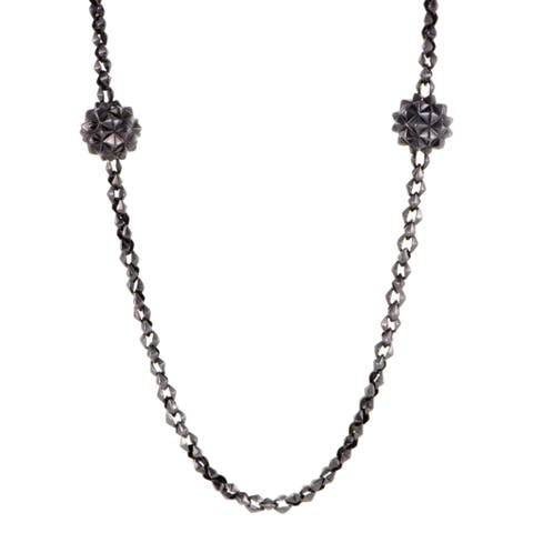 Stephen Webster Superstud Womens Blackened Silver Long Sautoir Necklace