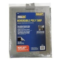 Projex  Silver/Black  Heavy Duty  Tarp  20 ft. W x 20 ft. L