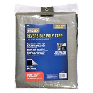 Projex Silver/Black Heavy Duty Tarp 20 ft. W x 12 ft. L