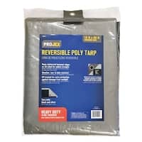 Projex  Silver/Black  Heavy Duty  Tarp  20 ft. W x 16 ft. L