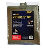 Projex  Silver/Black  Heavy Duty  Tarp  30 ft. W x 20 ft. L