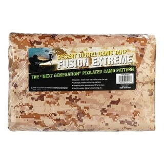 Fusion Extreme Desort Tan Digital Camouflage Medium Duty Tarp 12 ft. W x 16 ft. L