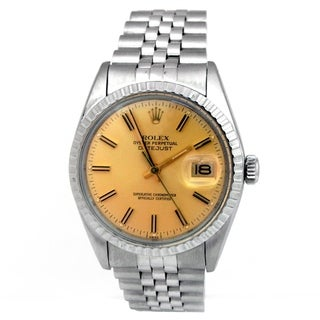 Pre-owned 36mm Rolex Stainless Steel Osyter Perpetual Datejust Vintage Watch