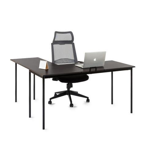 Priage by Zinus L-Shaped Desk, Espresso