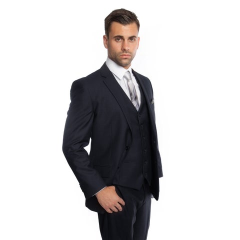 Men's Suit Modern Fit 3 Pieces Solid Two Button Suit
