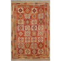 Sangat Kilim Amorica Gold/Red Rug (8'6 x 13'2)