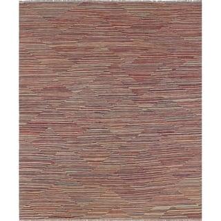 Winchester Kilim Colvert Red/Beige Rug (8'4 x 9'11)