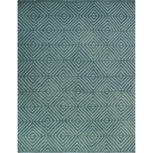 Winchester Kilim Andric Blue/Beige Rug (9'5 x 12'5)