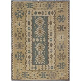 Sangat Kilim Chayce Beige/Grey Rug (7'2 x 9'9)